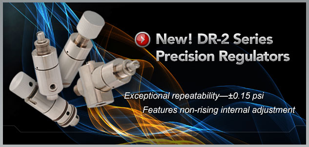 Clippard DR-2 Series Precision Regulators
