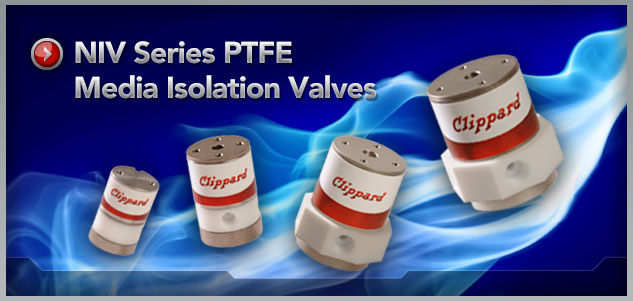 Clippard NIV Series PTFE Media Isolation Valves
